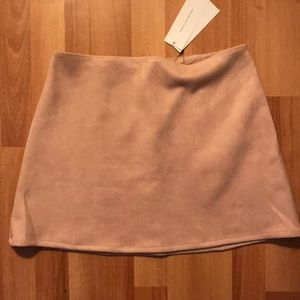 French Connection suede pink skirt size 6